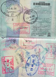 Adrian Burford's passport