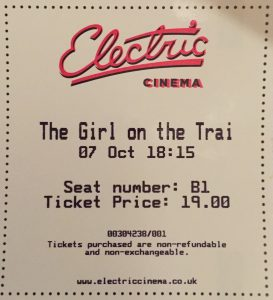 Girl on The Train at the Electic Cinema, Portobello Road