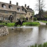 Pony riding in Lower Slaughter