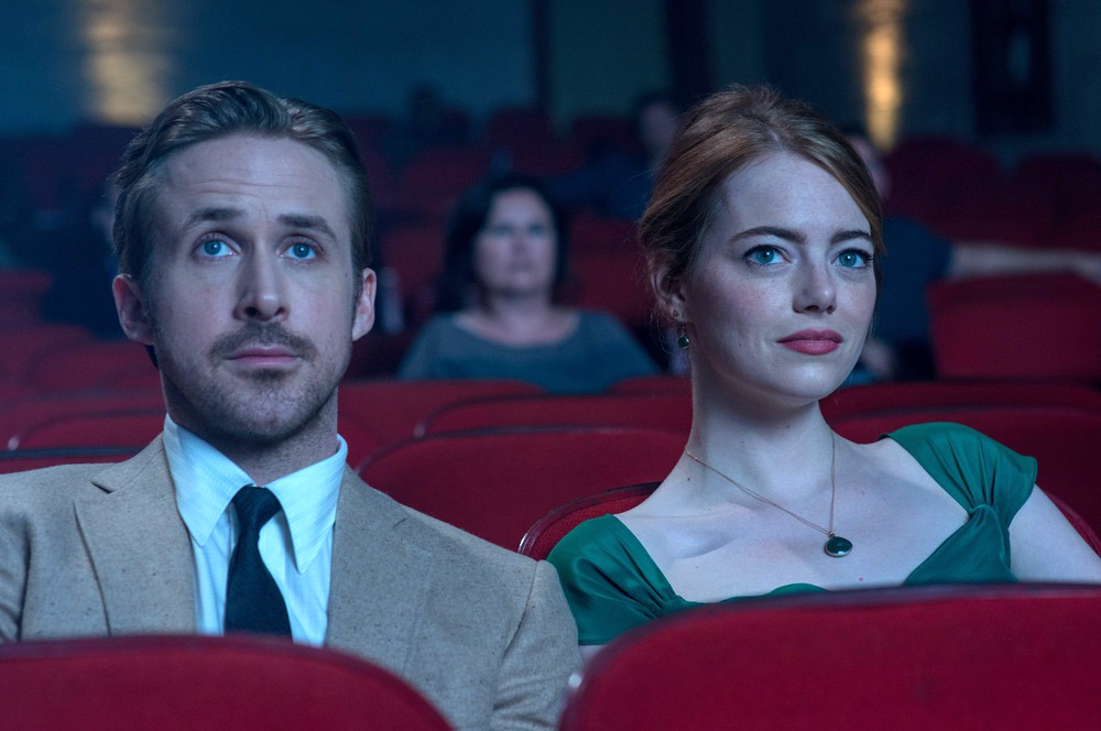 Ryan Gosling and Emma Stone at the Rialto in La La Land