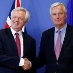 David Davies starts BREXIT negotiations with Michel Barnier, 19th June 2017