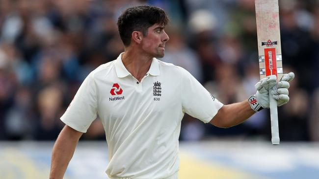 Alastair Cook scores 243 in the First Test Match v West Indies at Edgbaston, 18th August 2017